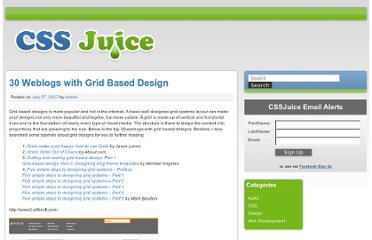 http://www.cssjuice.com/30-weblogs-with-grid-based-design/