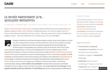 http://dasm.wordpress.com/2011/10/24/le-musee-participatif-quelques-initiatives-existantes/