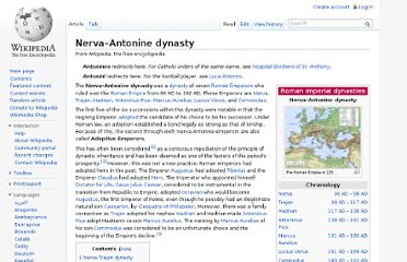 http://en.wikipedia.org/wiki/Nerva%E2%80%93Antonine_dynasty#Five_Good_Emperors