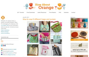 http://howaboutorange.blogspot.com/2011/07/how-to-sew-9-different-bags-and-purses.html