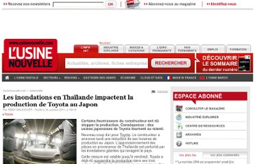 http://www.usinenouvelle.com/article/les-inondations-en-thailande-impactent-la-production-de-toyota-au-japon.N161470