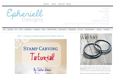 http://epherielldesigns.com/diy-stamp-carving-tutorial-by-ishtar-olivera