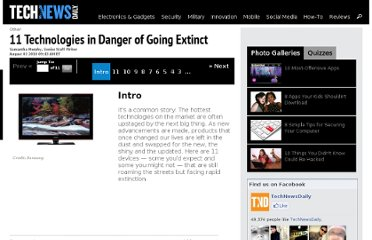 http://www.technewsdaily.com/865-11-technologies-in-danger-of-going-extinct.html