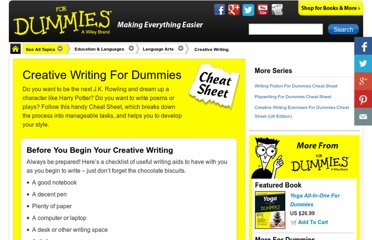 http://www.dummies.com/how-to/content/creative-writing-for-dummies-cheat-sheet.html