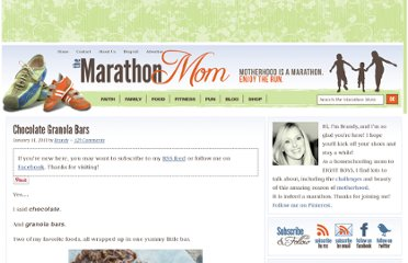 http://themarathonmom.com/chocolate-granola-bars.htm
