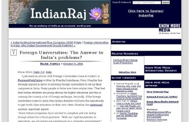 http://www.indianraj.com/2006/10/foreign_universities_the_answe.html