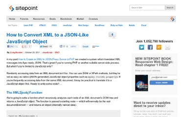 http://www.sitepoint.com/how-to-convert-xml-to-a-javascript-object/