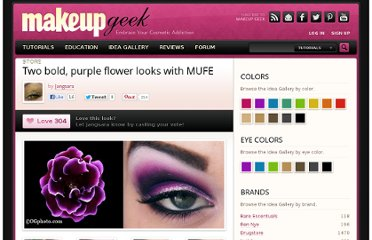 http://www.makeupgeek.com/idea-gallery/look/two-bold-purple-flower-looks-with-mufe/