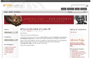 http://blogs.worldbank.org/africacan/africa-on-the-brink-of-a-take-off