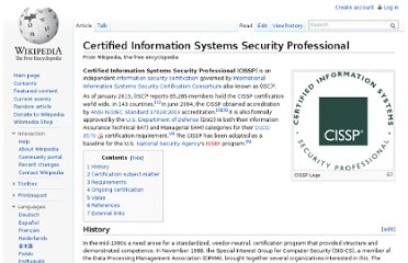 http://en.wikipedia.org/wiki/Certified_Information_Systems_Security_Professional