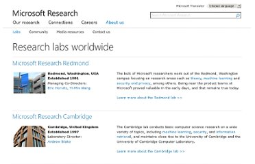 http://research.microsoft.com/en-us/labs/