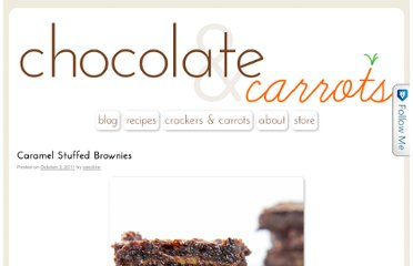 http://chocolateandcarrots.com/2011/10/caramel-stuffed-brownies