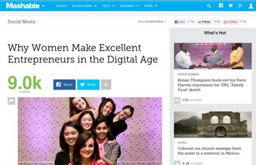 http://mashable.com/2011/10/25/women-entreprenuers/