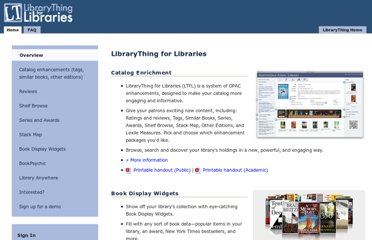 http://www.librarything.com/forlibraries/