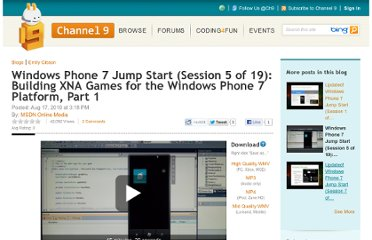 http://channel9.msdn.com/Blogs/egibson/Windows-Phone-7-Jump-Start-Session-5-of-12-Building-XNA-Games-for-the-Windows-Phone-7-Platform-Part-