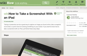 http://www.wikihow.com/Take-a-Screenshot-With-an-iPad