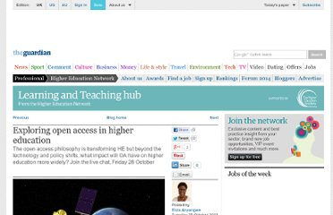 http://www.guardian.co.uk/higher-education-network/blog/2011/oct/25/open-access-higher-education