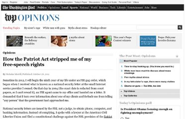 http://www.washingtonpost.com/opinions/how-the-patriot-act-stripped-me-of-my-free-speech-rights/2011/10/20/gIQAXB53GM_story.html