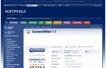 http://www.softpedia.com/get/Others/Home-Education/ScreenWriter.shtml