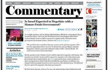 http://www.commentarymagazine.com/2011/07/05/is-israel-expected-to-negotiate-with-a-hamas-fatah-government/