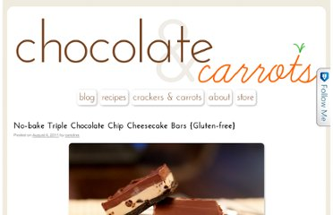 http://chocolateandcarrots.com/2011/08/gluten-free-no-bake-triple-chocolate-chip-cheesecake