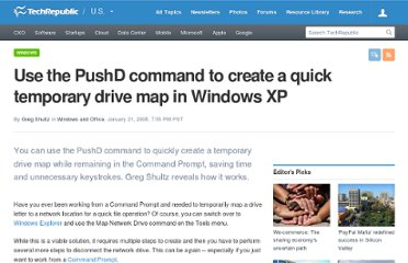 http://www.techrepublic.com/blog/window-on-windows/use-the-pushd-command-to-create-a-quick-temporary-drive-map-in-windows-xp/594