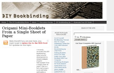 http://www.diybookbinding.com/origami-mini-booklets-from-a-single-sheet-of-paper/