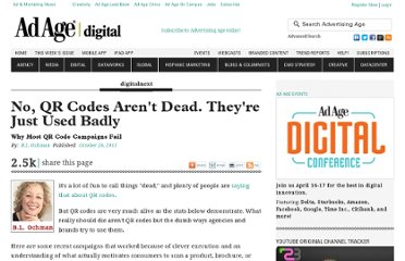 http://adage.com/article/digitalnext/qr-codes-dead-badly/230639/
