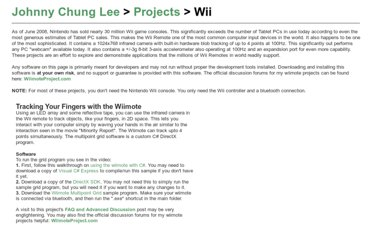 http://johnnylee.net/projects/wii/