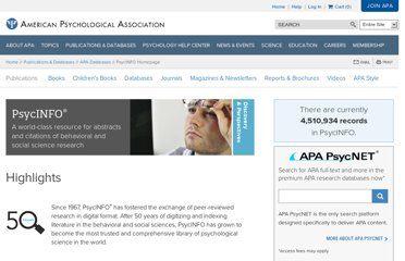 http://www.apa.org/pubs/databases/psycinfo/index.aspx