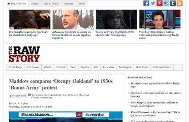 http://www.rawstory.com/rs/2011/10/27/maddow-compares-occupy-oakland-to-1930s-bonus-army-protest/