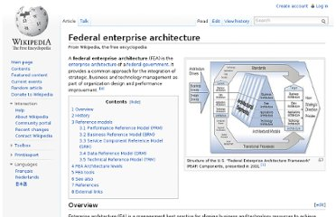 http://en.wikipedia.org/wiki/Federal_enterprise_architecture