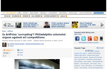 http://www.mlive.com/artprize/index.ssf/2009/11/is_artprize_corrupting_philadelphia_columnist_argues_against_art_competitions.html