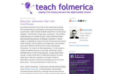 http://www.folmerica.net/2010/12/doing-interactive-flip-with-voicethread.html