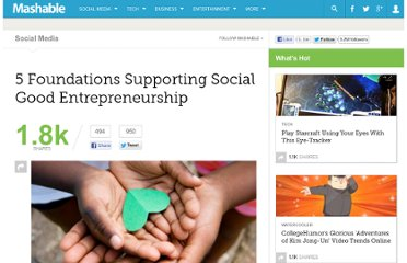 http://mashable.com/2011/10/27/online-social-entrepreneurship-foundations/