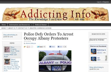http://www.addictinginfo.org/2011/10/26/police-defy-orders-to-arrest-occupyalbany-protesters/