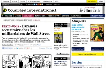 http://www.courrierinternational.com/article/2011/10/27/paranoia-securitaire-chez-les-milliardaires-de-wall-street