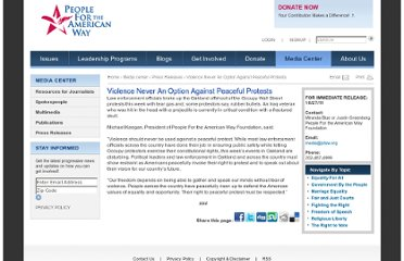 http://www.pfaw.org/press-releases/2011/10/violence-never-option-against-peaceful-protests