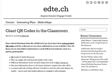 http://edte.ch/blog/2011/03/16/giant-qr-codes-in-the-classroom/#.TqmnEe_Q5A8.twitter