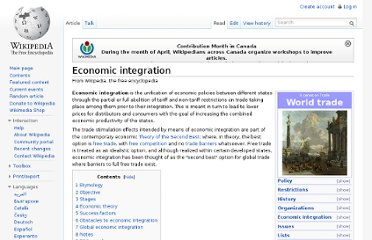 http://en.wikipedia.org/wiki/Economic_integration