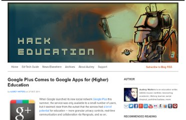 http://www.hackeducation.com/2011/10/27/google-plus-comes-to-google-apps-for-higher-education/