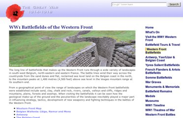http://www.greatwar.co.uk/places/ww1-western-front.htm