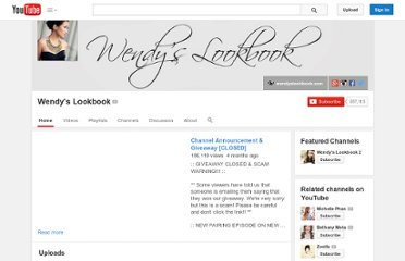http://www.youtube.com/user/wendyslookbook