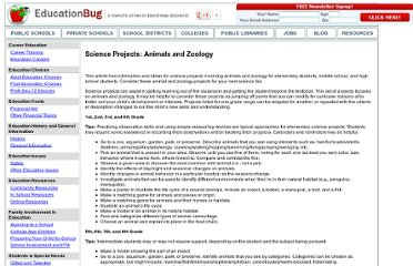 http://www.educationbug.org/a/science-projects--animals-and-zoology.html