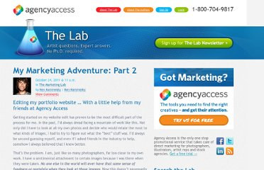 http://lab.agencyaccess.com/blog/bid/46866/My-Marketing-Adventure-Part-2