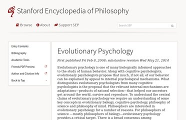 http://plato.stanford.edu/entries/evolutionary-psychology/