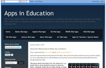 http://appsineducation.blogspot.com/2011/03/classroom-ipod-touches-ipads-dos-and.html