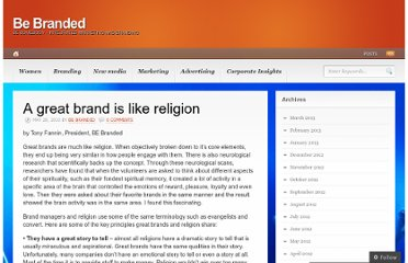 http://bebranded.wordpress.com/2010/05/28/a-great-brand-is-like-religion/