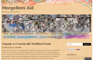 http://morgellonsaid.wordpress.com/diet-nutrition-2/organic-vs-genetically-modified-foods/