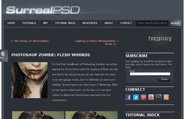 http://www.surrealpsd.com/photoshop-zombie-flesh-wounds/